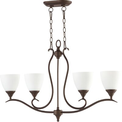 Flora Fall 4-Light Shaded Chandelier Finish: Oiled Bronze