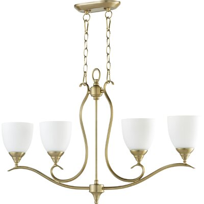 Harnois 4-Light Shaded Chandelier