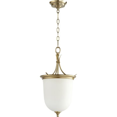 Harnois Entry 2-Light Bowl Pendant Finish: Aged Brass