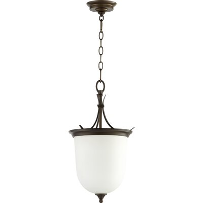 Flora Fall Entry 2-Light Pendant Finish: Oiled Bronze