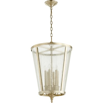 6-Light Foyer Pendant Finish: Aged Silver Leaf