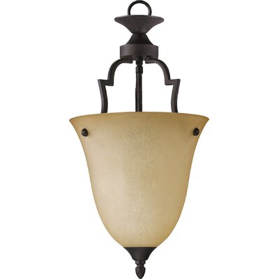 Hertz 1-Light Convertible Inverted Pendant Size: Medium, Finish: Toasted Sienna