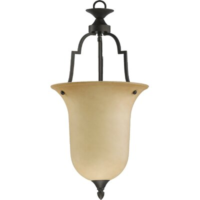 Hertz 1-Light Convertible Inverted Pendant Size: Large, Finish: Toasted Sienna