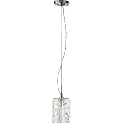 Transitional 1-Light Pendant Finish: Satin Nickel, Pendant: Clear Ice