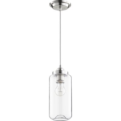 Filament 1-Light Mini Pendant Finish: Satin Nickel, Size: 12.75 H x 5 W