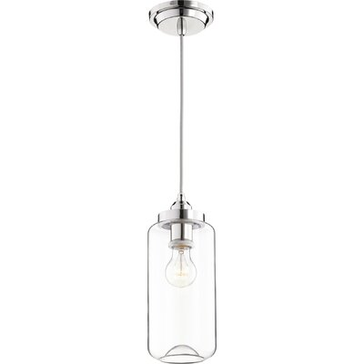 Filament 1-Light Mini Pendant Finish: Polished Nickel, Size: 12.75 H x 5 W