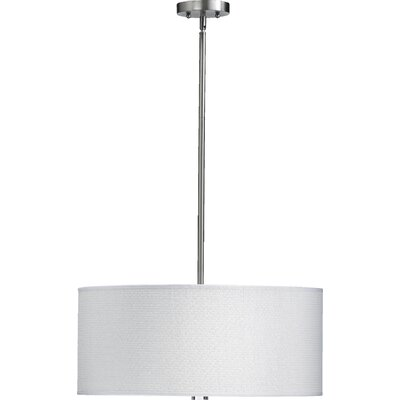 Morelock 3-Light Drum Pendant Finish: Satin Nickel