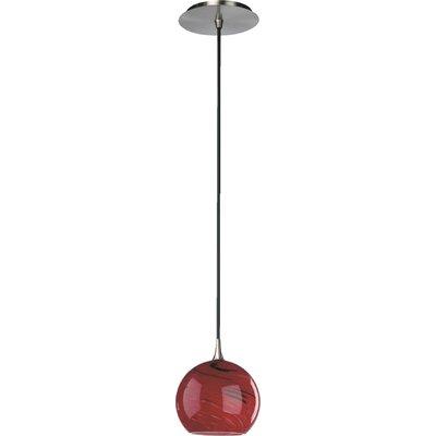 1-Light Globe Pendant Finish: Satin Nickel