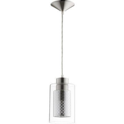 1-Light Mini Pendant Finish: Satin Nickel/Chrome