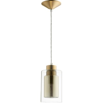 1-Light Mini Pendant Finish: Aged Brass/Gold