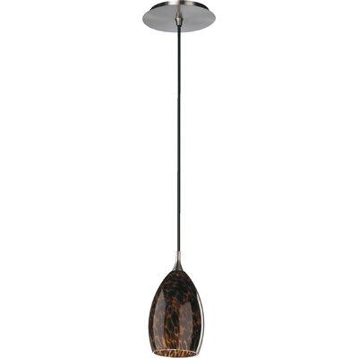 1-Light Tortoise Dome Pendant Finish: Satin Nickel