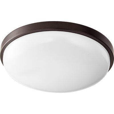 1-Light Flush Mount Size: 3.75 H x 14.5 W x 14.5 D