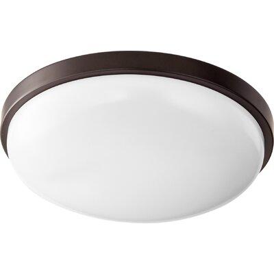 1-Light Flush Mount Size: 3.75 H x 14.5 W x 14.5 D