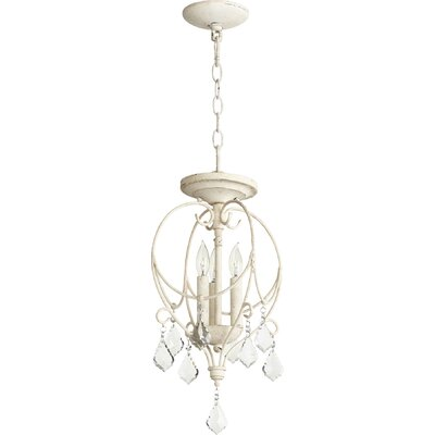 Ariel 3-Light Foyer Pendant Finish: Persian White