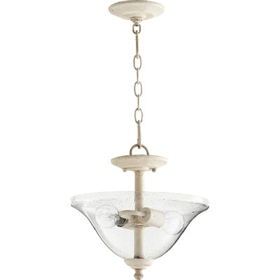 Spencer 2-Light Inverted Bowl Pendant Finish: Persian White