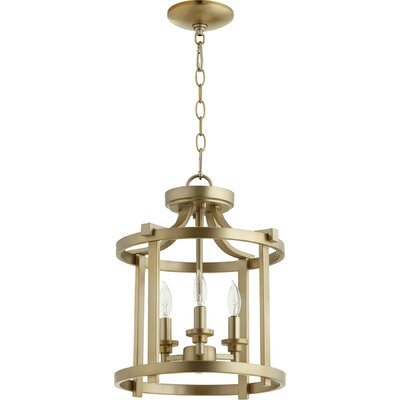 Lancaster 3-Light Foyer Pendant Finish: Aged Brass