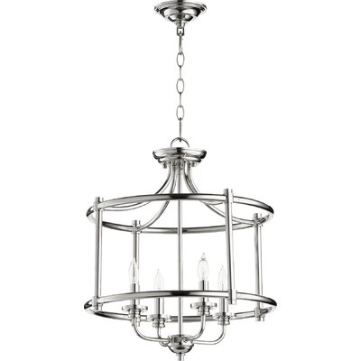 Rossington 4-Light Foyer Pendant Finish: Polished Nickel