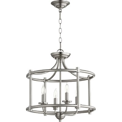 Rossington 4-Light Foyer Pendant Finish: Satin Nickel