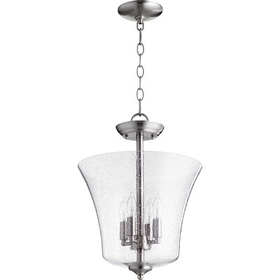 4-Light Bowl Pendant Finish: Satin Nickel