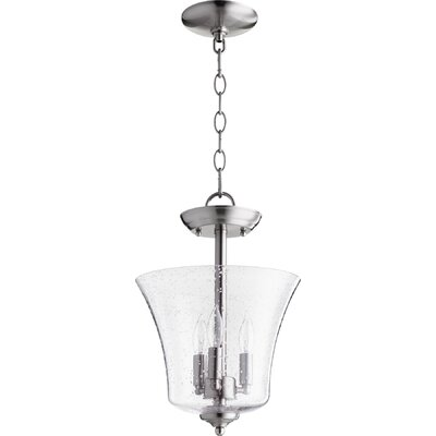 3-Light Bowl Pendant Finish: Satin Nickel