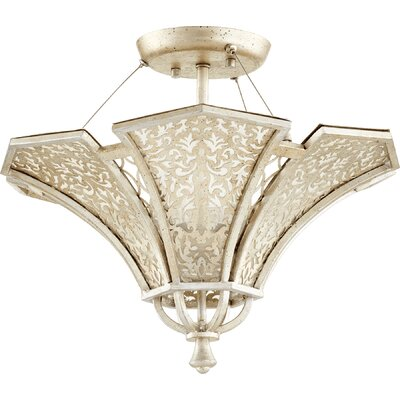 Bastille 3-Light Semi Flush Mount