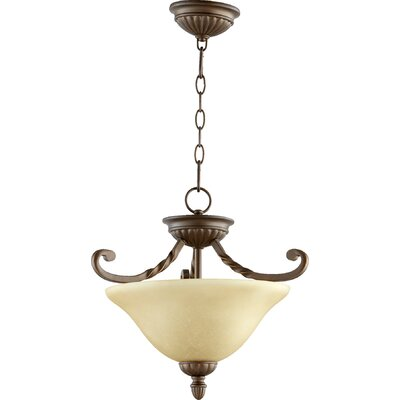 Tribeca 2-Light Convertible Inverted Pendant Finish: Oiled Bronze