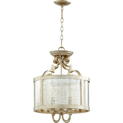 Champlain 4-Light Drum Pendant Finish: Aged Silver Leaf