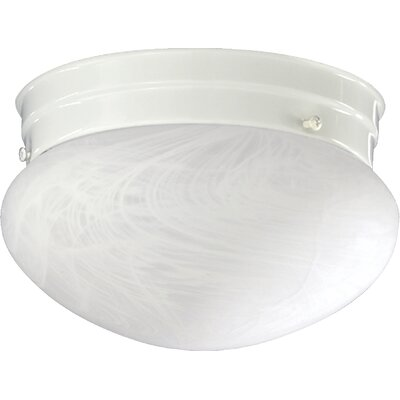 60W Flush Mount Size: 5.75 H x 9.75 W x 9.75 D, Finish: White