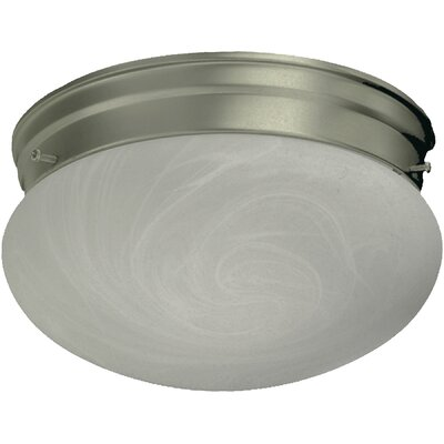60W Flush Mount Finish: Satin Nickel, Size: 4.5 H x 7 W x 7 D