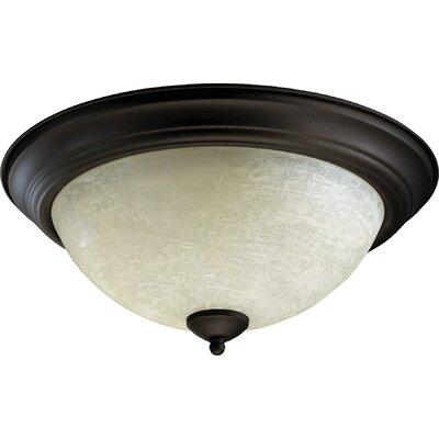 Flush Mount Size: 7 H x 15.5 W