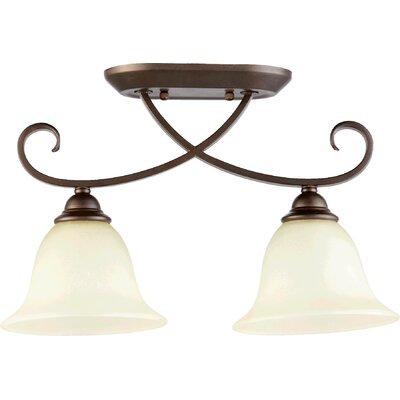 Celesta 2-Light Semi Flush Mount Finish: Oiled Bronze