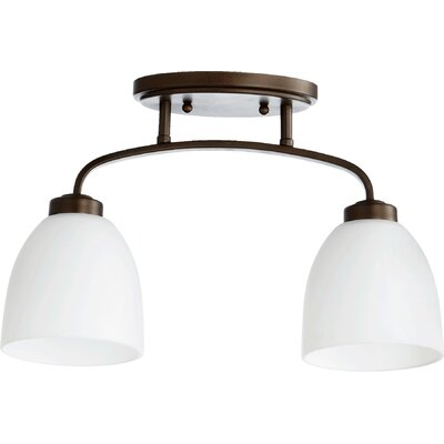 Reyes 2-Light Semi Flush Mount Finish: Oiled Bronze