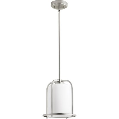 Lancaster 1-Light Mini Pendant Finish: Satin Nickel