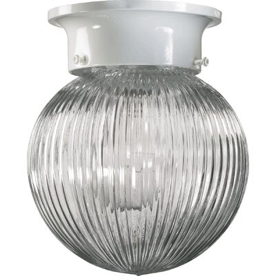 Ribbed Ball Semi Flush Mount