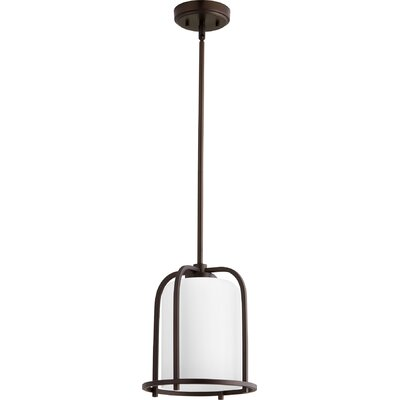 Lancaster 1-Light Mini Pendant Finish: Oiled Bronze