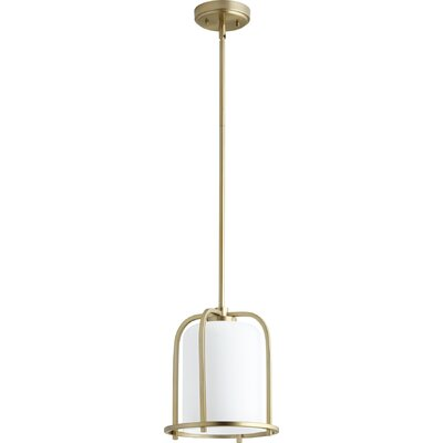 Lancaster 1-Light Mini Pendant Finish: Aged Brass