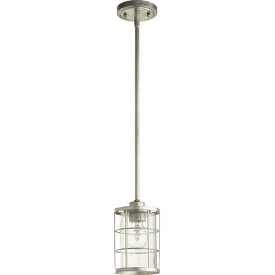 Ellis 1-Light Foyer Pendant Finish: Tumbled Steel