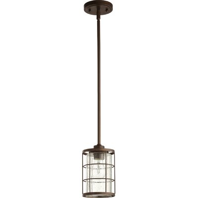Ellis 1-Light Foyer Pendant Finish: Oiled Bronze