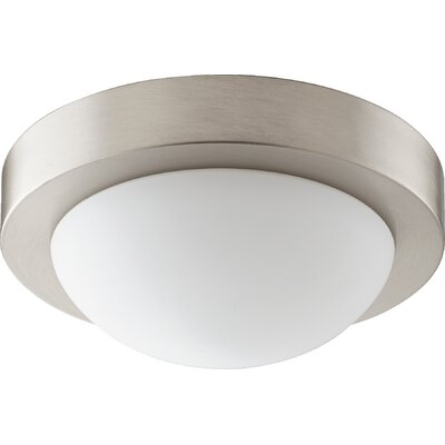 Single Light Flush Mount Finish: Satin Nickel, Size: 3.25 H x 9.25 W