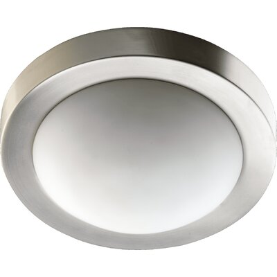 Single Light Flush Mount Finish: Satin Nickel, Size: 3.75 H x 11 W