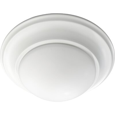 Flush Mount Size: 6.5 H x 17 W, Finish: Studio White