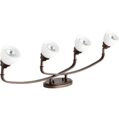 Reyes 4-Light Semi Flush Mount Finish: Oiled Bronze