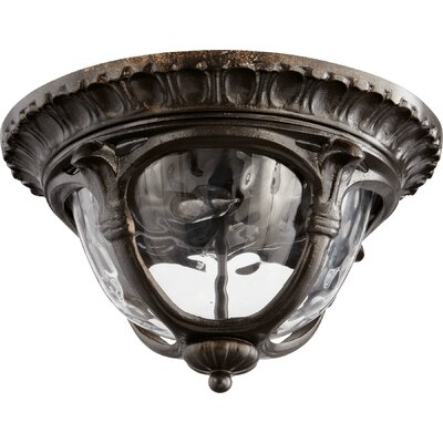 Riviera 2-Light Flush Mount Finish: Oiled Bronze