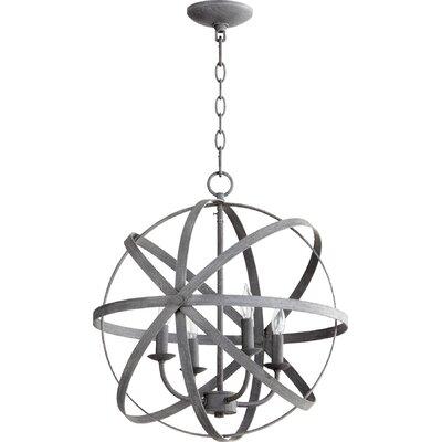 Celeste 4-Light Globe Pendant Finish: Zinc