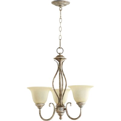 Spencer 3-Light Shaded Chandelier Finish: Mystic Silver