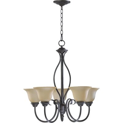 Spencer 5-Light Shaded Chandelier Finish: Toasted Sienna