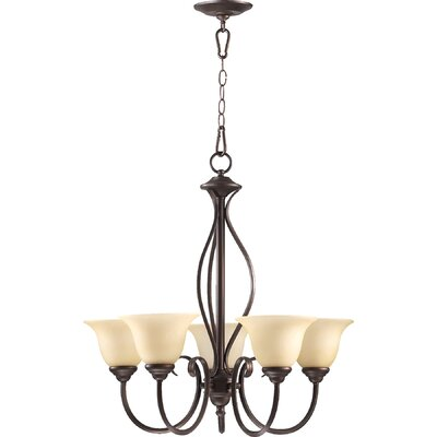Spencer 5-Light Shaded Chandelier Finish: Oiled Bronze