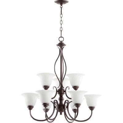 Spencer 9-Light Shaded Chandelier