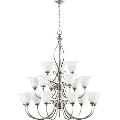 Spencer 18-Light Shaded Chandelier Finish: Classic Nickel