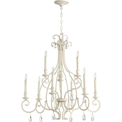 Ansley 9-Light Candle-Style Chandelier Finish: Persian White